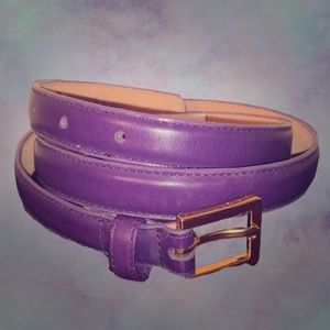 The Ritz vintage purple leather belt EUC